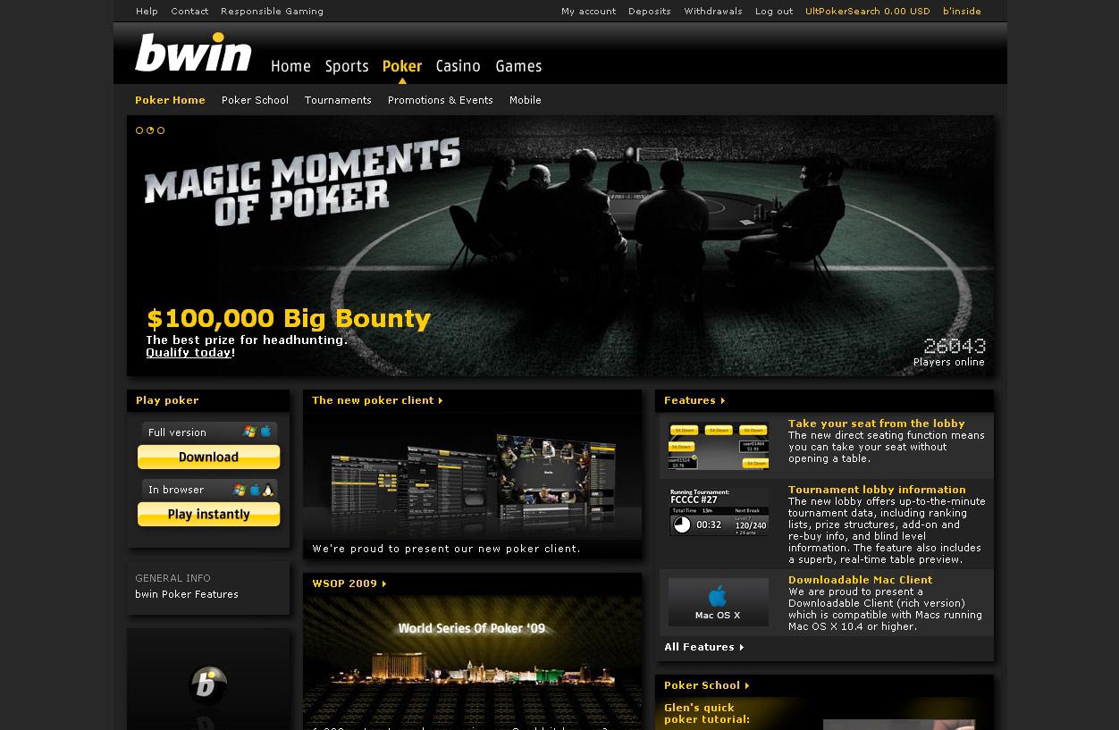 Bwin Poker Review Ultimate Poker Search
