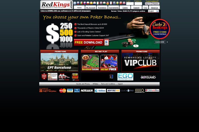 red kings poker